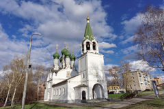Nizhny Novgorod, Russia. - April 22.2016. Church of the Assumption on the Krutoi lane 3. Royalty Free Stock Photos