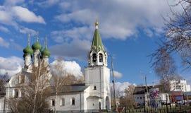 Nizhny Novgorod, Russia. - April 22.2016. Church of the Assumption on the Krutoi lane 3. Royalty Free Stock Images