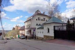 Nizhny Novgorod russia - April 22 2016 Hotellet på den gamla gatan Pochainskaya 14 Royaltyfri Fotografi