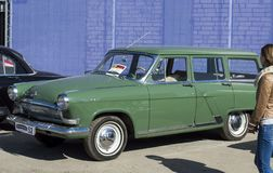 The car Volga GAZ-21. The color is metallic. Russia royalty free stock photography