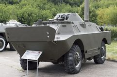 Armored personnel carrier BRDM-2. Armored reconnaissance patrol car. stock image