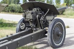 Gun M - 30, divisional 152 mm howitzer. Grew out Sverdlovsk. royalty free stock photos