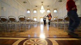 Nizhny Novgorod, Russia - 03.11.2015. Ballroom at stock footage