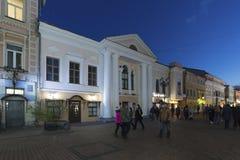 Nizhny Novgorod, Russia -04.11.2015. Bolshaya Pokrovskaya - main pedestrian street in historic downtown Royalty Free Stock Photos