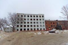 Nizhny Novgorod, Russia. - December 1.2017. Accomplishment of territory near the football stadium in Nizhny Novgorod to the FIFA W. Orld Cup 2018. Buildings next Stock Photos