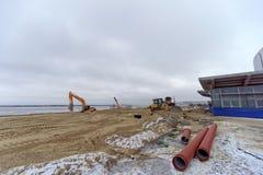 nizhny novgorod Russia - Grudzień 1 2017 Osiągnięcie terytorium blisko stadionu futbolowego w Nizhny Novgorod FIFA W Zdjęcie Royalty Free