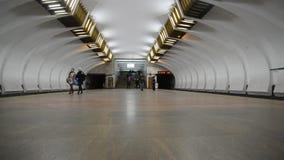 Nizhny Novgorod, RUSSIA. 02.11.2015. The interior of a metro station Leninskaya stock footage