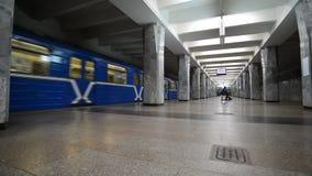 Nizhny Novgorod, RUSSIA. 02.11.2015. The interior of the subway station Avtozavodskaya stock video footage