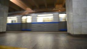 Nizhny Novgorod, RUSSIA. 02.11.2015. The interior of the subway station Dvigatel Revolutsii in blurring stock footage