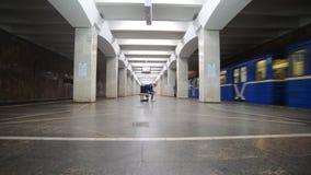 Nizhny Novgorod, RUSSIA. 02.11.2015. The interior of the subway station Komsomolskaya stock footage