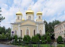 Nizhny Novgorod russia - Juli 14 2016 Kyrkliga heliga Hierarchs av serafen-Divee för helig Treenighet för MoskvaNizhny Novgorod m Royaltyfria Bilder