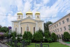 Nizhny Novgorod, Russia. - July 14.2016. Church Holy Hierarchs of the Moscow Nizhny Novgorod metochion Holy Trinity Royalty Free Stock Image
