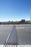 Nizhny Novgorod, Russia. - June 28.2016. Expansion joint on metro bridge across the Oka River. Nizhny Novgorod, Russia. - June 28.2016. Expansion joint on metro Royalty Free Stock Photo