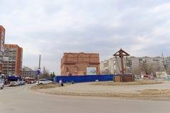 nizhny novgorod Russia - Kwiecień 10 2016 Budowa kościół na cześć Błogosławionego maryja dziewica Niespodziewaną radość Zdjęcie Stock