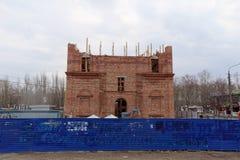 nizhny novgorod Russia - Kwiecień 10 2016 Budowa kościół na cześć Błogosławionego maryja dziewica Niespodziewaną radość Obraz Stock