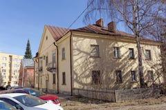 nizhny novgorod Russia - Kwiecień 10 2017 Ceglany mieszkanie dom w ulicznej maksymie Gorky 42B Zdjęcie Stock