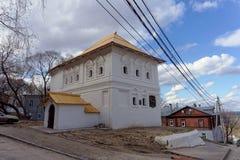 nizhny novgorod Russia - Kwiecień 22 2016 Dom Peter Ja w Nizhny Novgorod Obrazy Stock