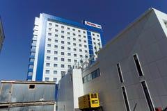 nizhny novgorod Russia - Kwiecień 07 2016 Hampton Hilton hotelem na ulicznej maksymie Gorky 252 Zdjęcia Royalty Free