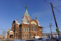 nizhny novgorod Russia - Luty 6 2017 Kościół prezentacja Vladimir ikona matka bóg Obrazy Stock