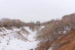 Nizhny Novgorod, Russia. - March 24.2017. View of Pochainsky ravine. Nizhny Novgorod, Russia. - March 24.2017. View of Pochainsky ravine in the spring Stock Image