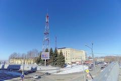 Nizhny Novgorod russia - Mars 29 2018 Brandstation 50 på Oka syezd 6 Royaltyfria Foton
