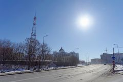 nizhny novgorod Russia - Marzec 29 2018 Nowy budynek sąd rejonowy na Studencheskaya ulicie 23, Fotografia Royalty Free