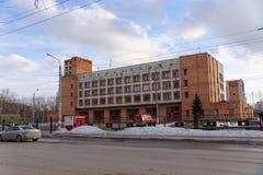 nizhny novgorod Russia - Marzec 22 2016 Pożarnicza zajezdnia na ulicznym Murashkinskaya, 20 nizhny novgorod Obrazy Stock