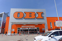 Nizhny Novgorod, Russia. - May 26.2016. OBI store sells tools an Royalty Free Stock Photography