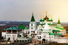 Nizhny Novgorod, Russia Monastero di ascensione di Pechersky fotografia stock libera da diritti
