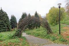 Nizhny Novgorod russia - Oktober 13 2016 Autumn Landscape i Alexander Garden Arkivfoton