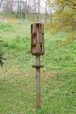 Nizhny Novgorod russia - Oktober 13 2016 Ett träobjekt på en pinne i Alexander Garden Arkivfoto