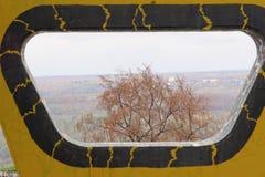 Nizhny Novgorod russia - Oktober 13 2016 Konstobjektexponeringsglas i Alexander Garden Arkivfoto