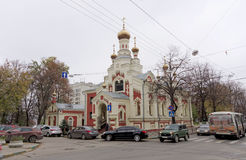 nizhny novgorod Russia - Październik 13 2016 Świątynia ikona matka bóg Wszystkie Dotknięta radość na Nesterova ulicie 2 Obrazy Royalty Free