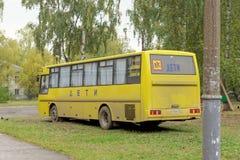 nizhny novgorod Russia - Październik 06 2017 Autobus Sormovo ortodoksa sala gimnastyczna Obrazy Stock