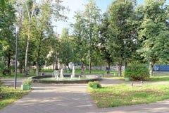 Nizhny Novgorod, Russia. - September 26.2017. Acting fountain in the park Black pond. Royalty Free Stock Photos