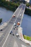 NIZHNY NOVGOROD, RUSSIA - September 2017. Canavinsky bridge over the river Oka. Royalty Free Stock Photography