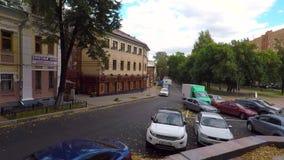 Zvezdinka street in Nizhny Novgood. Nizhny Novgorod, Russia - 19 September, 2017: Zvezdinka - old street in the center of the city. Now here is the city square stock video