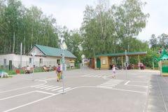 nizhny novgorod Russia - Sierpień 03 2016 Dziecka boiska gemowy kompleks w Parkowym Szwajcaria Obraz Royalty Free