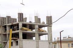 nizhny novgorod Russia - Wrzesień 26 2017 Budowa mieszkaniowy kompleksu dom na wolności lokalizować Fotografia Stock