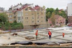 nizhny novgorod Russia - Wrzesień 26 2017 Budowa mieszkaniowy kompleksu dom na wolności lokalizować Fotografia Royalty Free