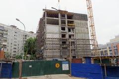nizhny novgorod Russia - Wrzesień 26 2017 Budowa mieszkaniowy kompleksu dom na wolności lokalizować Zdjęcia Stock