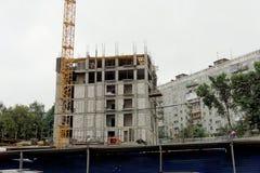 nizhny novgorod Russia - Wrzesień 06 2017 Budowa mieszkaniowy kompleksu dom na wolności lokalizować Fotografia Stock