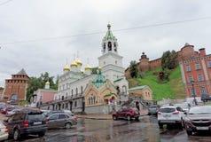 nizhny novgorod Russia - Wrzesień 05 2017 Ortodoksalny kościół narodzenie jezusa Ioanna Predtechi Zdjęcia Stock