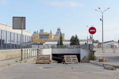 nizhny novgorod Russia - Wrzesień 04 2017 Naprawa tunel pod Lenin kwadratem Zdjęcie Royalty Free