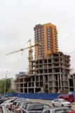 nizhny novgorod Russia - Wrzesień 06 2016 Wysoki nowy budynek na ulicznym Timiryazev Zdjęcie Royalty Free