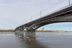 Nizhny Novgorod, Russie - 24 mars 2017 Pont de Canavinsky plus de Photos libres de droits
