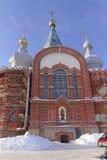 Nizhny Novgorod, Russland - 6. Februar 2017 Kirche der Darstellung Vladimir Icons der Mutter des Gottes Stockbilder