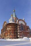 Nizhny Novgorod, Russland - 6. Februar 2017 Kirche der Darstellung Vladimir Icons der Mutter des Gottes Lizenzfreie Stockfotos