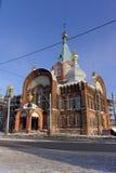 Nizhny Novgorod, Russland - 6. Februar 2017 Kirche der Darstellung Vladimir Icons der Mutter des Gottes Lizenzfreies Stockfoto