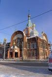 Nizhny Novgorod, Russland - 6. Februar 2017 Kirche der Darstellung Vladimir Icons der Mutter des Gottes Lizenzfreie Stockfotografie